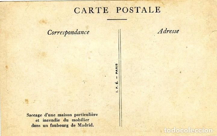 Postales: GUERRA CIVIL. LA REVOLUCION DEL FRENTE POPULAR EN ESPAÑA. (MARZO 1936) SAQUEO DE UNA CASA...... - Foto 3 - 115130939