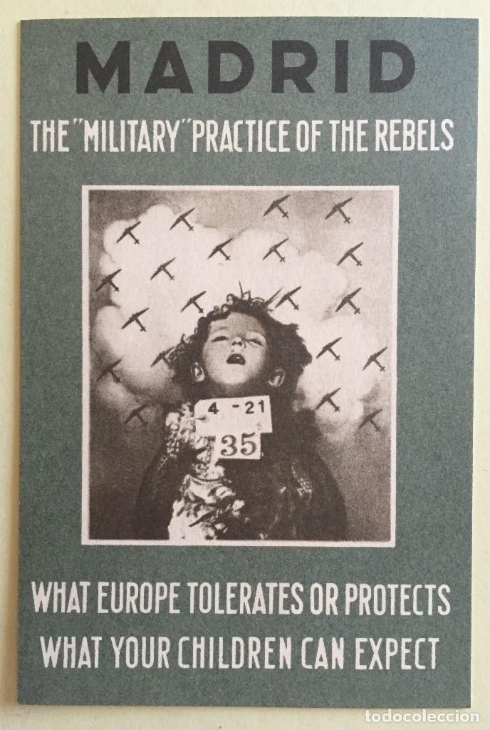 TARJETA POSTAL- GUERRA CIVIL- MADRID- BOMBARDEOS- ORIGINAL DE EPOCA - THE MILITARY PRACTICE OF THE (Postales - Postales Temáticas - Guerra Civil Española)