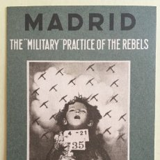 Postales: TARJETA POSTAL- GUERRA CIVIL- MADRID- BOMBARDEOS- ORIGINAL DE EPOCA - THE MILITARY PRACTICE OF THE. Lote 149590612