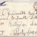 Postales: SOBRE BATALLON LUPI CTV ITALIANO DIVISION LITTORIO GUERRA CIVIL. Lote 117499111