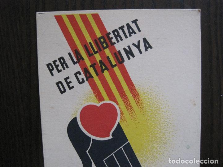 Postales: POSTAL GUERRA CIVIL- PER LA LLIBERTAT DE CATALUNYA AJUDEU MADRID -VER FOTOS -(52.615) - Foto 2 - 117935739