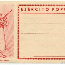 Postcards - ESPAÑA GUERRA CIVIL. SOBRE-CARTA ILUSTRADO SIN CIRCULAR. EJÉRCITO POPULAR. IMPRESO EN BARCELONA - 120033051