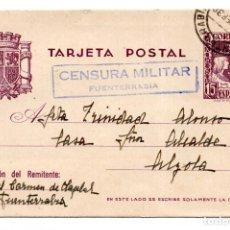 Postales: CENSURA MILITAR FUENTERRABIA 1938 - PAIS VASCO - GUERRA CIVIL. Lote 120492467