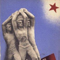 Postales: TARJETA POSTAL BARRAL MONUMENTO PABLO IGLESIAS MADRID 1936 GUERRA CIVIL. Lote 120666363