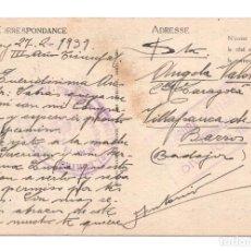 Postales: CENSURA MILITAR INTENDENCIA DIVISIÓN 13 - MANO NEGRA - FRANQUICIA EJERCITO DEL CENTRO DIVISIÓN 13. Lote 120907863