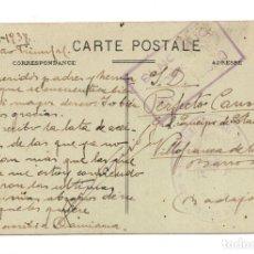 Postales: CENSURA MILITAR INTENDENCIA DIVISIÓN 13 - MANO NEGRA - FRANQUICIA EJERCITO DEL CENTRO DIVISIÓN 13. Lote 120908031