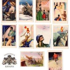Postales: LOTE DE 10 POSTALES ED LA GUERRA CIVIL. ARTES GRÁFICAS LA BORDE Y LA BAYEN. TOLOSA.. Lote 122480847