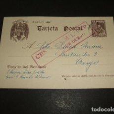 Postales: TARJETA POSTAL GUERRA CIVIL CIRCULADA DE ARANDA DE DUERO A BURGOS CENSURA MILITAR ARANDA DE DUERO. Lote 122553759