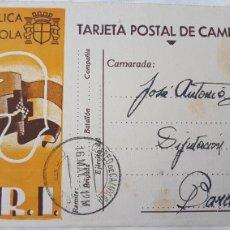 Postales: GUERRA CIVIL SRI TARJETA POSTAL DE CAMPAÑA MORATA 1938. Lote 122683440