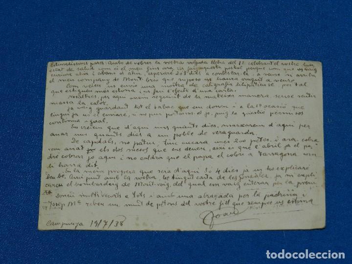 Postales: POSTAL ASSALT I HEROICA DEFENSA BALUARD DE STA CLARA 1714 , CENSURADA , ENVIADA 1939, GUERRA CIVIL - Foto 2 - 123331607
