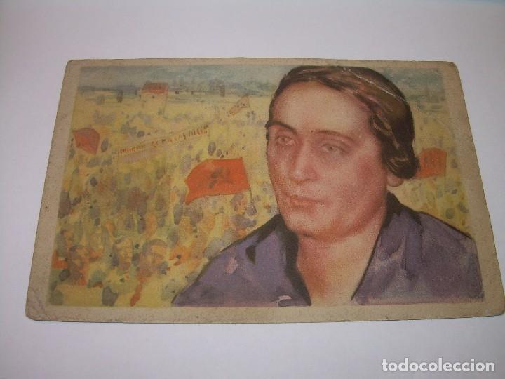 ANTIGUA POSTAL.DOLORES IBARRURI (PASIONARIA). (Postales - Postales Temáticas - Guerra Civil Española)