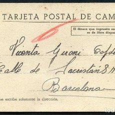 Postales: GUERRA CIVIL, TARJETA POSTAL CAMPAÑA, 1938. Lote 126402063