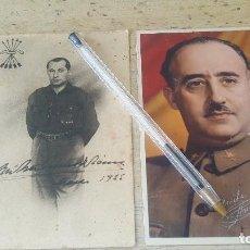 Postales: POSTALES DE JOSE ANTONIO PRIMO Y FRANCISCO FRANCO CON FIRMAS ESTAMPILLADAS. Lote 126525431