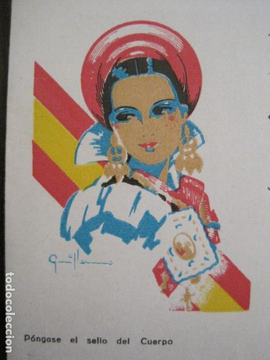 Postales: GUERRA CIVIL - TARJETA POSTAL DOBLE - VIVA ESPAÑA -ARAGON-UNA PATRIA UN ESTADO -VER FOTOS-(53.109) - Foto 2 - 127252771