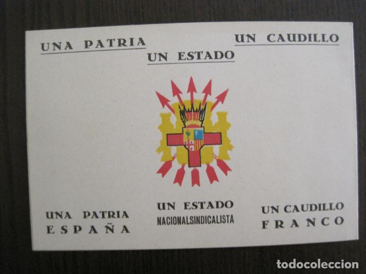 Postales: GUERRA CIVIL - TARJETA POSTAL DOBLE - VIVA ESPAÑA -ARAGON-UNA PATRIA UN ESTADO -VER FOTOS-(53.109) - Foto 5 - 127252771