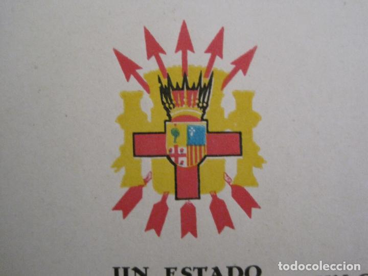 Postales: GUERRA CIVIL - TARJETA POSTAL DOBLE - VIVA ESPAÑA -ARAGON-UNA PATRIA UN ESTADO -VER FOTOS-(53.109) - Foto 8 - 127252771