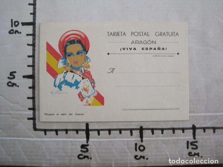 Postales: GUERRA CIVIL - TARJETA POSTAL DOBLE - VIVA ESPAÑA -ARAGON-UNA PATRIA UN ESTADO -VER FOTOS-(53.109) - Foto 9 - 127252771