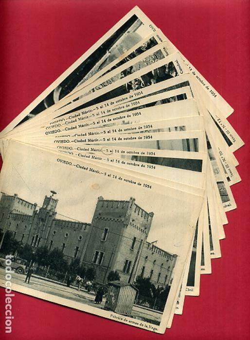 COLECCION FOTOS, OVIEDO CIUDAD MARTIR 1934, GUERRA CIVIL , 3ª III TERCERA SERIE, 13 FOTOS ORIGINALES (Postales - Postales Temáticas - Guerra Civil Española)