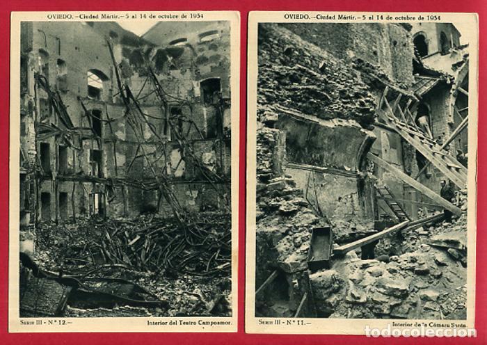 Postales: COLECCION FOTOS, OVIEDO CIUDAD MARTIR 1934, GUERRA CIVIL , 3ª III TERCERA SERIE, 13 FOTOS ORIGINALES - Foto 3 - 127940715