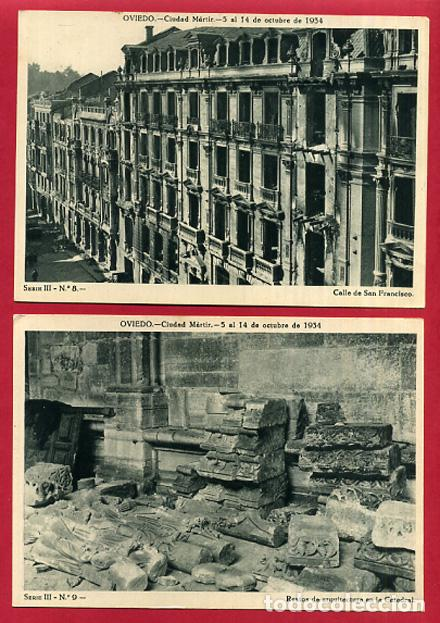 Postales: COLECCION FOTOS, OVIEDO CIUDAD MARTIR 1934, GUERRA CIVIL , 3ª III TERCERA SERIE, 13 FOTOS ORIGINALES - Foto 5 - 127940715