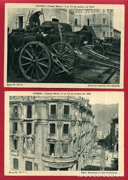 Postales: COLECCION FOTOS, OVIEDO CIUDAD MARTIR 1934, GUERRA CIVIL , 3ª III TERCERA SERIE, 13 FOTOS ORIGINALES - Foto 6 - 127940715