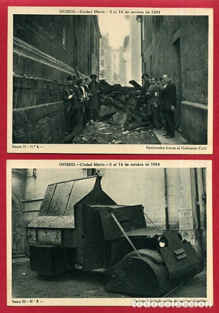 Postales: COLECCION FOTOS, OVIEDO CIUDAD MARTIR 1934, GUERRA CIVIL , 3ª III TERCERA SERIE, 13 FOTOS ORIGINALES - Foto 7 - 127940715