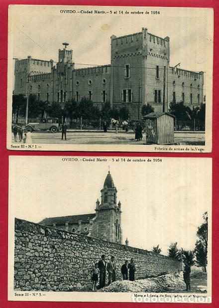 Postales: COLECCION FOTOS, OVIEDO CIUDAD MARTIR 1934, GUERRA CIVIL , 3ª III TERCERA SERIE, 13 FOTOS ORIGINALES - Foto 8 - 127940715