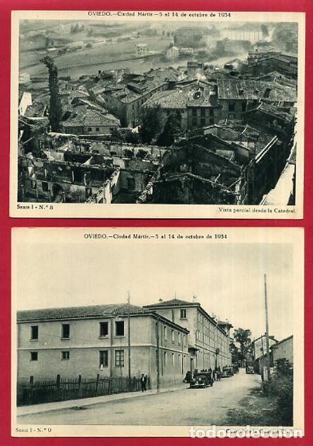 Postales: COLECCION FOTOS, OVIEDO CIUDAD MARTIR 1934, GUERRA CIVIL , 1ª I PRIMERA SERIE, 15 FOTOS ORIGINALES - Foto 6 - 127940939