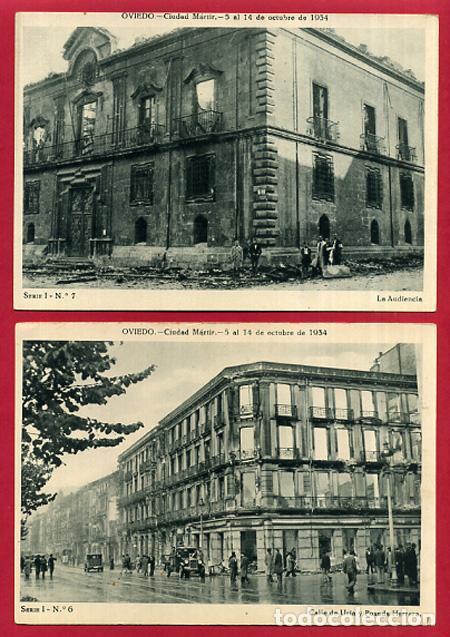 Postales: COLECCION FOTOS, OVIEDO CIUDAD MARTIR 1934, GUERRA CIVIL , 1ª I PRIMERA SERIE, 15 FOTOS ORIGINALES - Foto 7 - 127940939