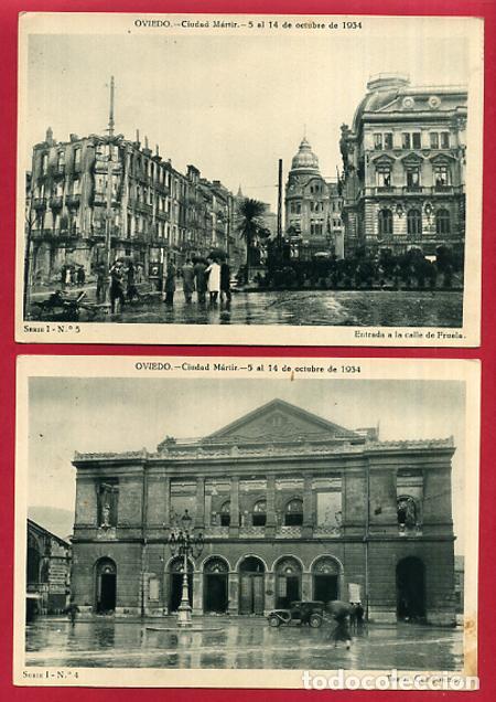 Postales: COLECCION FOTOS, OVIEDO CIUDAD MARTIR 1934, GUERRA CIVIL , 1ª I PRIMERA SERIE, 15 FOTOS ORIGINALES - Foto 8 - 127940939
