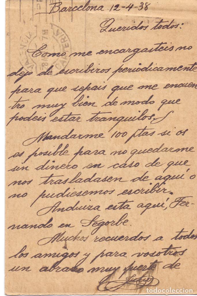 Postales: POSTAL CHECA REPUBLICANA SIM PALACIO MISIONES BARCELONA ABRIL 1938 GUERRA CIVIL - Foto 2 - 128091735