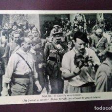 Postales: EL CAUDILLO EN EL ALCÁZAR DE TOLEDO. SIN CIRCULAR.. Lote 128146079
