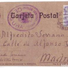 Postales: TARJETA POSTAL PRISIÓN CENTRAL DE ORIHUELA (ALICANTE). CENSURA (1940). Lote 128162335
