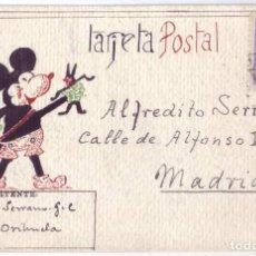 Postales: TARJETA POSTAL PRISIÓN DE ORIHUELA (ALICANTE) - (1939 - 1940). Lote 128162623
