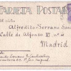 Postales: TARJETA POSTAL PRISIÓN SAN MIGUEL DE ORIHUELA (ALICANTE). CENSURADA. DIBUJO EN REVERSO (1939). Lote 128162807