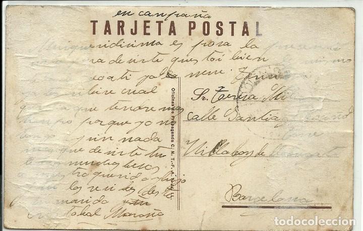 Postales: (XJ-180757)POSTAL ASI ES ESPAÑA - CIRCULADA - GUERRA CIVIL - Foto 2 - 129253435