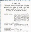 Postales: 23 JULIO 1936 - GUERRA CIVIL - CORONEL MOSCARDO . Lote 129454179