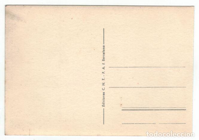 Postales: POSTAL CNT – FAI. SIN CIRCULAR. ALLEPUZ 421 RRR - Foto 2 - 130826684