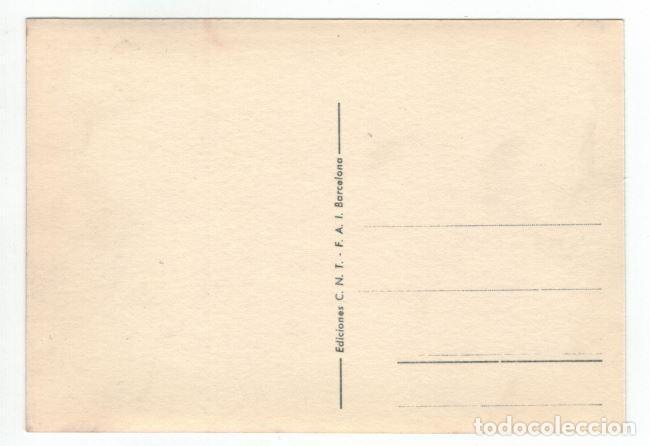 Postales: POSTAL CNT – FAI. SIN CIRCULAR. ALLEPUZ 418 RRR - Foto 2 - 130826716