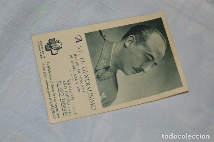 RARÍSIMA POSTAL GUERRA CIVIL - FELICITACIÓN NAVIDAD 1938 GENERALÍSIMO FRANCO - ENVÍO 24H (Postales - Postales Temáticas - Guerra Civil Española)