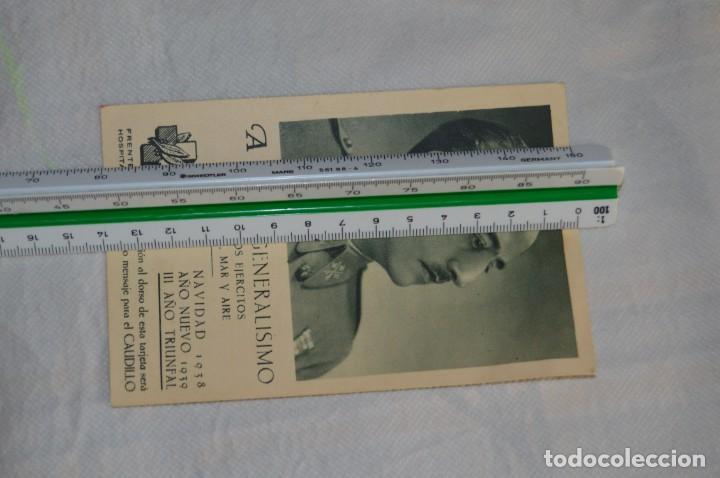 Postales: RARÍSIMA POSTAL GUERRA CIVIL - FELICITACIÓN NAVIDAD 1938 GENERALÍSIMO FRANCO - ENVÍO 24H - Foto 5 - 132362834
