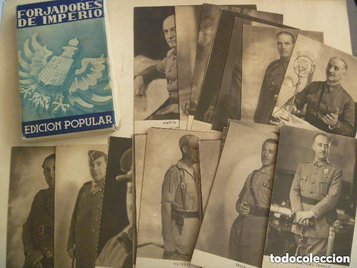 COLECCION DE POSTALES FORJADORES DEL IMPERIO. 30 POSTALES, COMPLETA EN CARPETILLA. (Postales - Postales Temáticas - Guerra Civil Española)