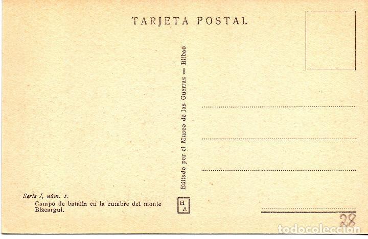 Postales: TUMBA SOLDADOS LEGION CONDOR MONTE BIZCARGUI (CINTURON BILBAO) FRENTE NORTE GUERRA CIVIL - Foto 2 - 132817542