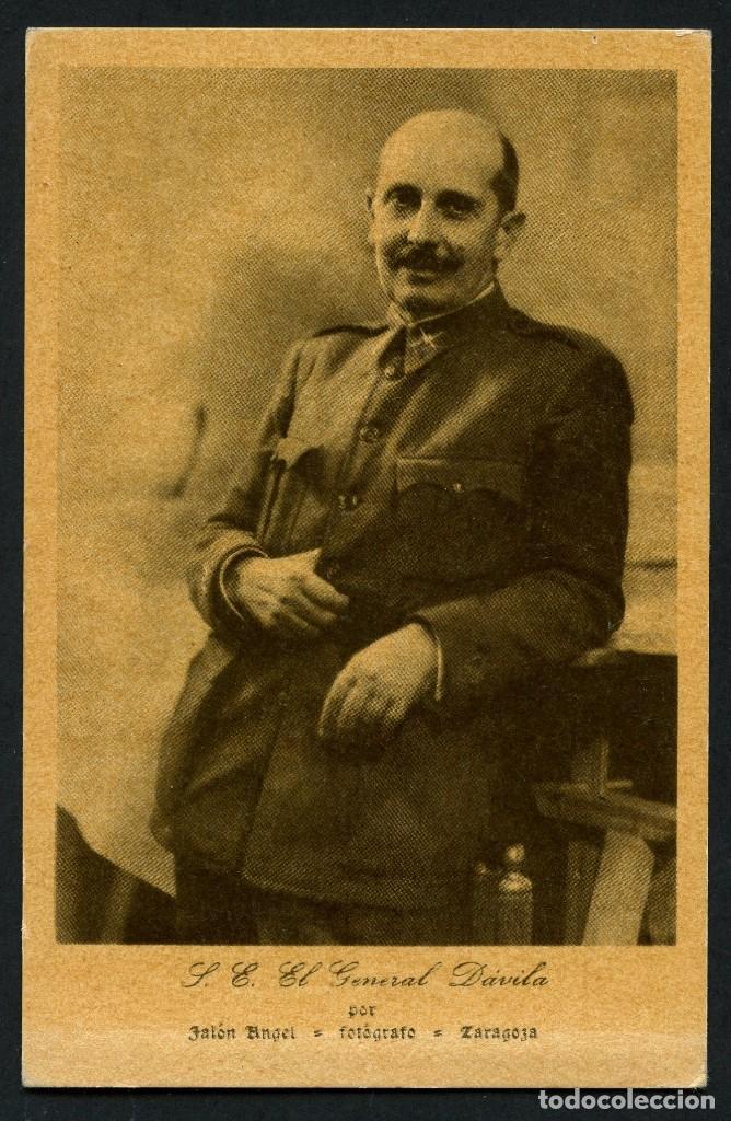 GUERRA CIVIL, TARJETA POSTAL, GENERAL DÁVILA, POR JÁLON ANGEL (Postales - Postales Temáticas - Guerra Civil Española)