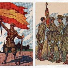 Postales: LOTE DE 2 POSTALES TEMÁTICA GUERRA CIVIL ESPAÑOLA.. Lote 135219178