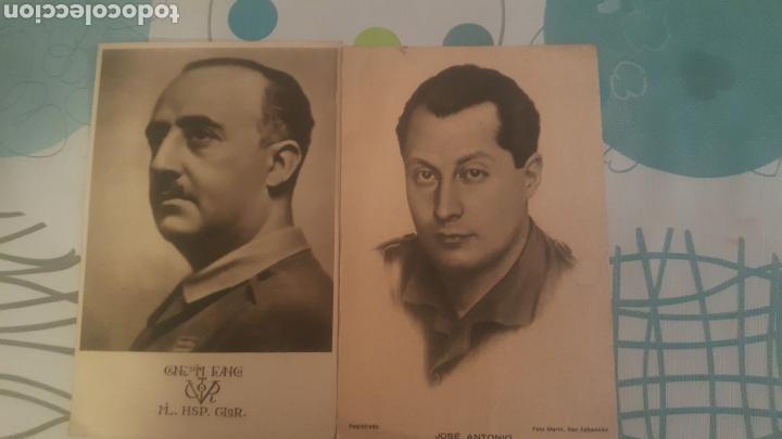 2 POSTALES DE FRANCO Y JOSE ANTONIO (Postales - Postales Temáticas - Guerra Civil Española)