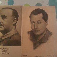 Postales: 2 POSTALES DE FRANCO Y JOSE ANTONIO. Lote 136144942