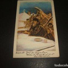 Postales: POSTAL GUERRA CIVIL ALERTA ESTÁ CIRCULADA1939 CENSURA MILITAR DE PAMPLONA LABORDE Y LABAYEN TOLOSA . Lote 139316970