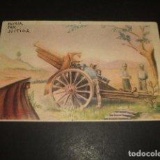 Postales: POSTAL GUERRA CIVIL POSICION ARTILLERA CIRCULADA 1939 6ª BANDERA EL DRAGON PLANA MAYOR CENSURAS. Lote 139317334