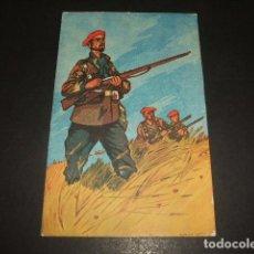 Postales: POSTAL GUERRA CIVIL LOS SALVADORES DE ESPAÑA REQUETES CARLISMO CENSURA CORREOS LUANCO ASTURIAS 1938. Lote 139317530